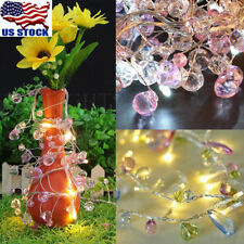 10LED Colorful Crystal Party LED String Light Fairy Lights Lamp Battery Operated