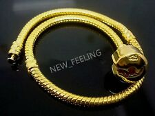 10PCS Gold Plated Snake Chain Fit European PDN Bracelet Charms Beads