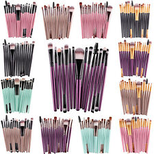 15Pcs Makeup kit Brushes Cosmetic Foundation Make Up Eyebrow Eyeliner Brush Set