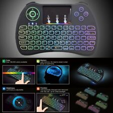 Cool Illuminated LED Backlight USB Wired Silent Multimedia PC Gaming Keyboard
