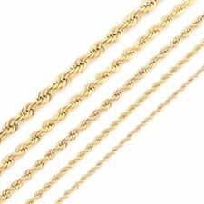 Gold Plating Rope Chain Stainless Steel Necklace For Women Men Gold Fashion Rope