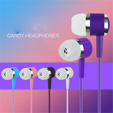 3.5mm In-Ear Earphone Candy Color Earphones Cable Earbud  For Mobile Phone PC