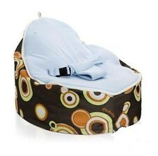 Multicolor Baby Bean Bag Snuggle Bed Portable Bean Seat Nursery Rocker Zipper