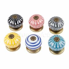Round Ceramic Cabinet Knobs Kitchen Furniture Hardware Drawer Door Pull Handles