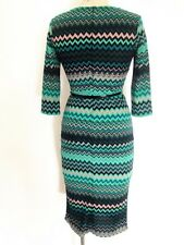 Women Print Knee Length Three Quarter Sleeve Crew Neck Casual Dress NR957