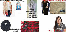 Cejon oversized scarf shawl Evening Wrap Floral Day Wrap OR Infinity Loops carf