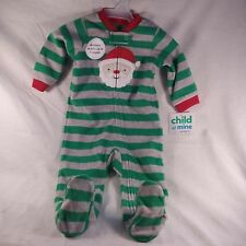 Carters Child of Mine Infant Boys Christmas Santa Footed Fleece Sleeper Pajamas