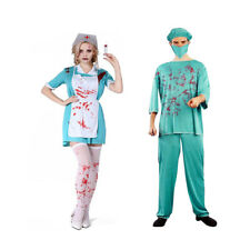 Funny Halloween Bloody Doctor Nurse Costume Horror Party Fancy Dress Outfit