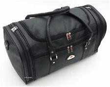 Leather Weekend Bag Travel Duffle Sports Cabin Gym PU Look Holdall Luggage Faux