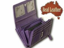 NEW Ladies double sided leather wallet✻Inside Coin Purse✻YKK Zip✻Real Leather✻