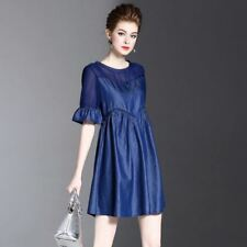 Women Casual Short Sleeve New Fashion Patchwork Above Knee Mini Dress