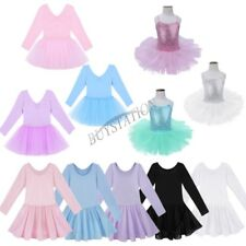 Girls Kids Tutu Ballet Leotard Dance Dress Ballerina Fairy Dancewear Costume