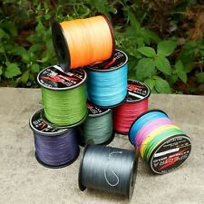 Multi-Color Purple Grey 8Strands Strong PE Braided Dyneema Fishing Line 12-160LB