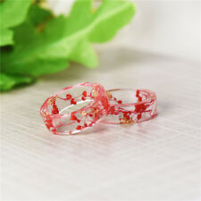 Dried Flower Fresh DIY Fashion High Quality 1 Pcs Ring Dried Flower Resin Ring