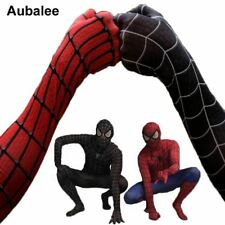Black Red Spider-man Costume Men Adult Spiderman Cosplay Suit Spandex Superhero