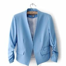 Women Candy Color Polyester Material V Collar Casual Wear Blazer