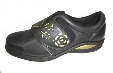 Ladies Wide Fitting Natureform Maple Strap on Shoes Available in Various Sizes