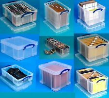 18 Litre-84 Litre Multi-Pack Really Useful Boxes Large Clear Lidded Storage Box!