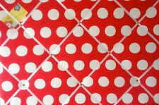 Cath Kidston Big Red Spot Hand Crafted Fabric Notice / Pin / Memo / Memory Board