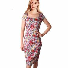 Women Casual Summer Plus Size Floral Printed Knee-length Dress