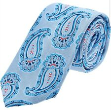WILLIAM HUNT BLUE PAISLEY SILK TIE