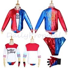 Suicide Squad Bomber Harley Quinn Property of Joker Halloween Costume XS-XL USA