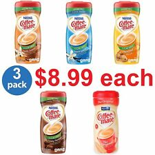 NESTLE Coffee Mate Powdered Coffee - Many Flavors Sugar-Free 10.2 oz (Pack of 3)