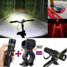 Ultrafire Zoomable 20000LM XML T6 LED Flashlight Torch Hiking Lamp+Bike Holder
