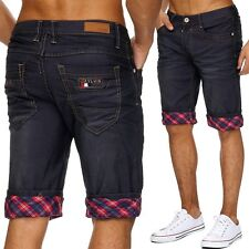 Men's Jeans Trousers Slim Stonewashed Classic Straight Shorts Denim NEW Summer