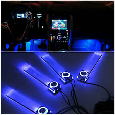 Blue Car Decorative Lights Charge LED Interior Floor Decoration Lamp 4 In 1 RE