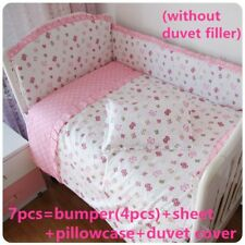 6/7 Pcs Baby Crib Bedding Sets Nursery For Girl Comforter Cover 120*60/120*70 cm