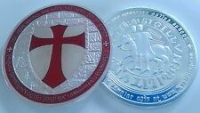 *UK DELIVERY* Knights Templar Silver Gold Plated Cross Coins Tokens Medals