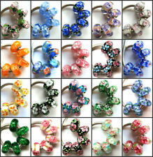 100pcs Wholesale Lampwork Murano Glass Beads Fit European Charm Bracelet NO.07