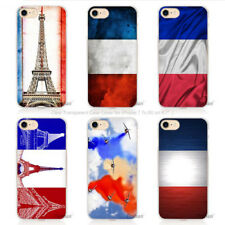 French Flag Paris Eiffel Tower Hard Plastic Case For iPhone