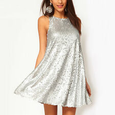 New Sexy Women's Sequins Sleeveless Evening Cocktail Party Fashion Mini Dress