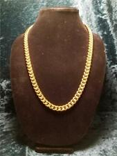 24K Gold Filled Cuban Curb Chain Sailor Clasp, 1 Cm Wide 3 mm Thick Size Variety
