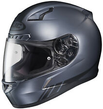 HJC Adult CL-17 Streamline Grey/Black Full Face Motorcycle Helmet Snell DOT