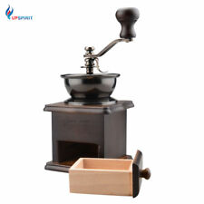 Vintage Hand Crank Wooden Stand Coffee Bean Grinder Manual Coffee Been Grinder