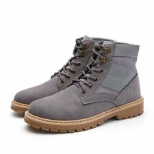 Fashion Mens Short Boots Hot Faux Suede Casual Boots New Mens Round Toe Shoes