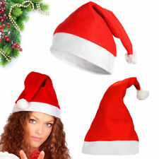 Soft Plush Ultra Thick Santa Claus Party Christmas Cap Hat For Adult & Kids Lot