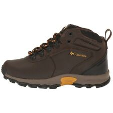 Columbia Boys Shoes Youth Newton Ridge Waterproof Hiking Boots Cordovan