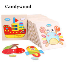 Genuine 3D Wooden Puzzles Jigsaw Educational Toys Puzzle for Toddlers Adult Kid