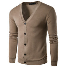 Men's Casual Knitwear Cardigan Buttons Jumpers Knitted Tops Autumn Sweaters