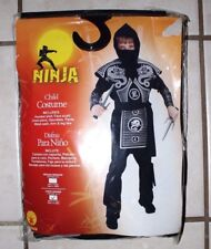 NEW Halloween Youth Kids' Boys Red and Black Ninja Dragon Costume Size Large L