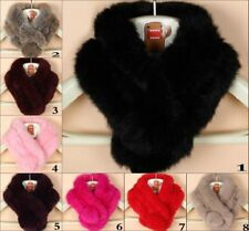 Women's Real Rabbit Fur Scarf Shawl Collar Stole Cape Scarves Winter Scarf Wrap
