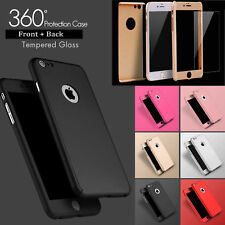 New Hybrid 360 Shockproof Case Tempered Glass Cover For iPhone 8 7 Plus