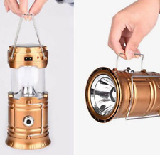 Outdoor Rechargeable Solar led Camping Lantern Light Hand Lamp Light Collapsible