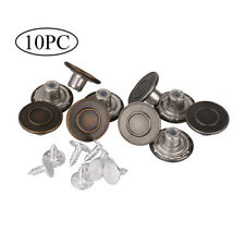 10x 17mm Bronze Replacement Instant Denim Jean Tack Stud Metal Buttons+Pins Set