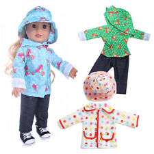 For 43cm Zapf Baby Born Doll Raincoat Clothes Suit Hat American girl Outfit