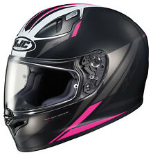 HJC Adult FG-17 Valve Semi-Flat Pink/Black Full Face Motorcycle Helmet Snell DOT